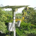LED street light with solar panel component