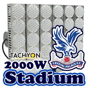 High Power LED Football Stadium Lights & Ball Field Flood Lights @ 2000W  (Replaces 5000W Metal Halide Lamp)